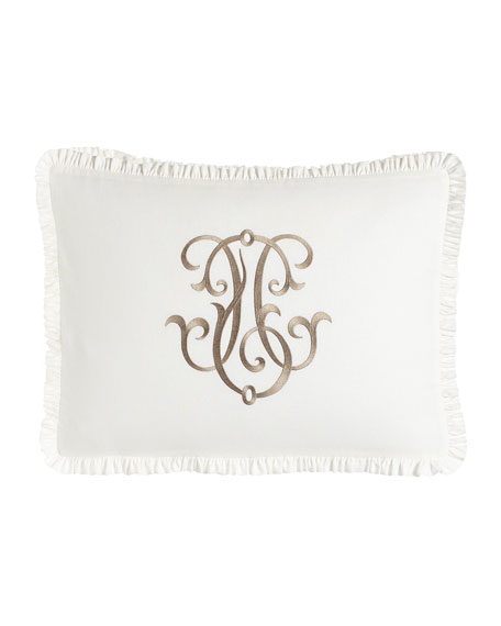 Each Essex King Embroidered White Box Sham