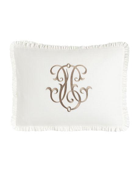 Each Essex King Embroidered White Box Sham