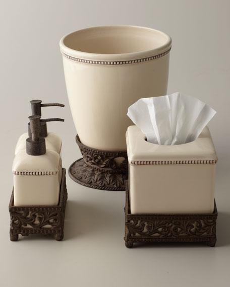 G G Collection Ceramic Wastebasket
