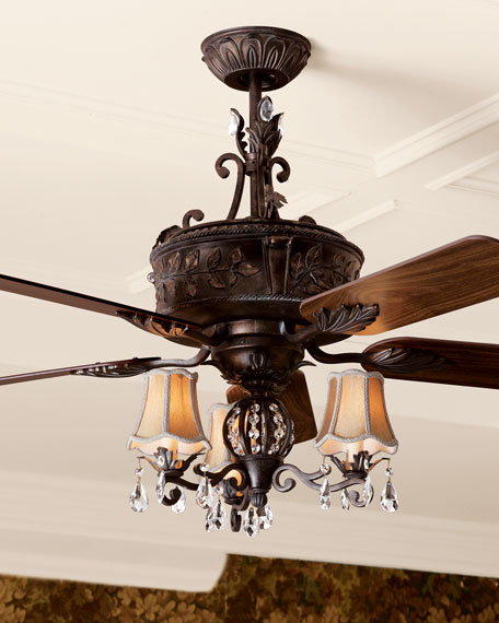 Ceiling fans outdoor indoor ceiling fans at neiman marcus horchow antoinette three light kit aloadofball Image collections