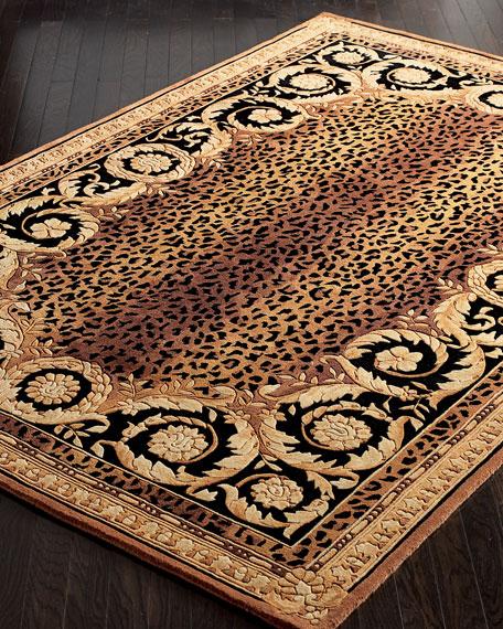 Roman Leopard Rug, 4' Round