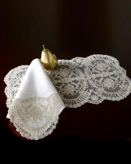 Chantilly Lace & Linen Napkins