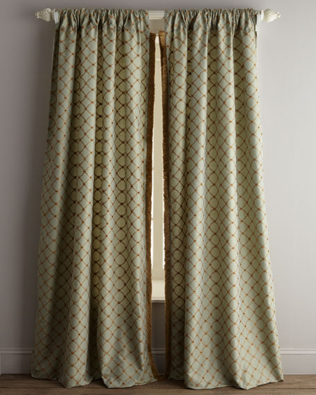 "Each 108""L Petit Trianon Trellis Curtain"