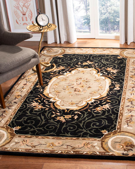 Aubusson Night Rug, 9'6 x 13'6""