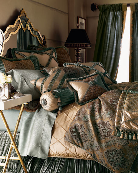 Queen Villa di Como Brocade Duvet Cover