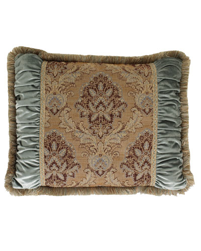 King Villa di Como Brocade Sham with Ruched Sides