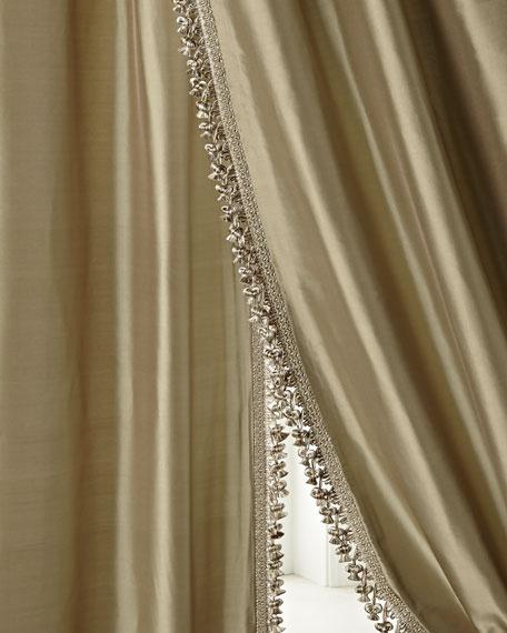 """Each Blue Crystal Palace Silk Curtain, 120""""L"""