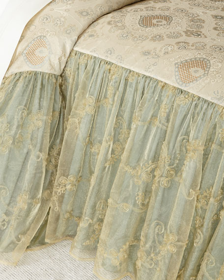"Crystal Palace 24""L King Coverlet"