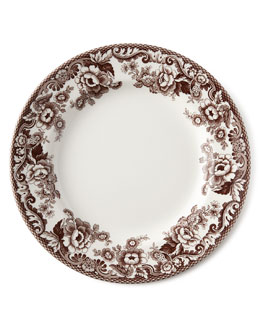 Spode Five-Piece Delamere Dinnerware Place Setting & Wood Charger Plate