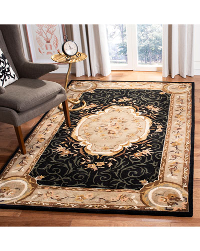 Aubusson Night Rug  4' x 6'