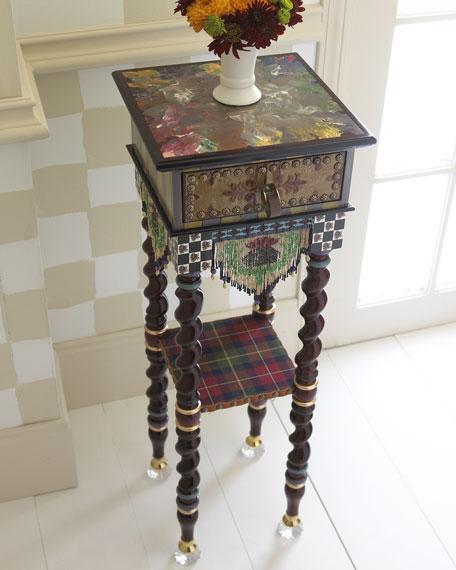 MacKenzie-Childs Dark Tiny Table