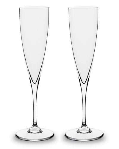 Dom Perignon Champagne Flutes  Set of Two