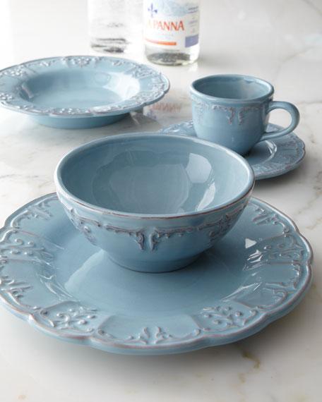 Four Fleur-de-Lis Dinner Plates