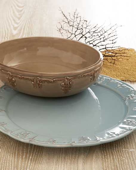 Fleur-De-Lis Serving Bowl & Fleur-de-Lis Serveware
