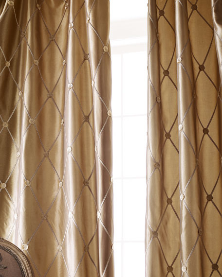 "Each 55""W x 96""L Remington Curtain"