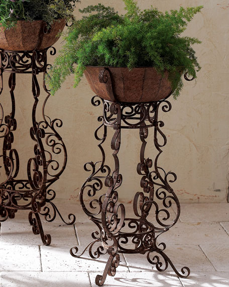 Tole & Iron Planter, Large