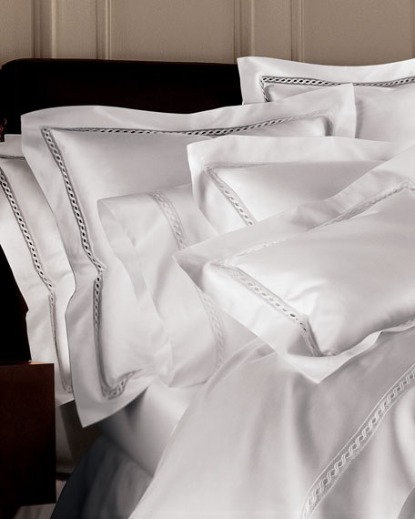 SFERRA King Lace Sateen Duvet Cover