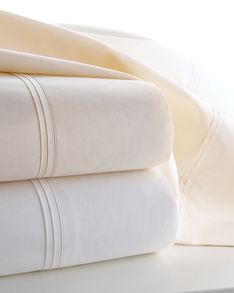 Two Marcus Collection King 600 Thread Count Solid