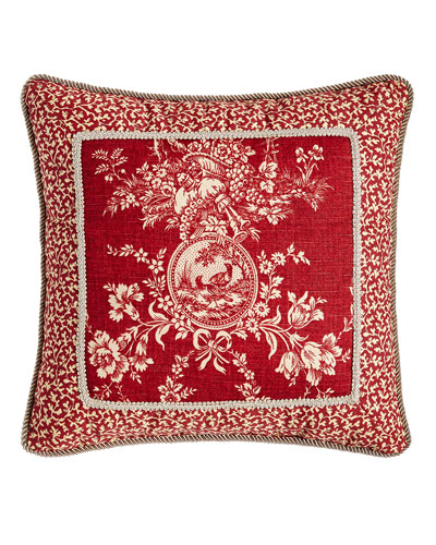 French Country Pillow w/ Toile Center, 19