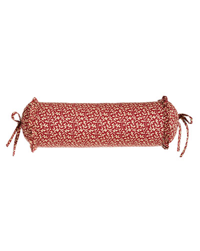 French Country Neck Roll Pillow  18 x 6