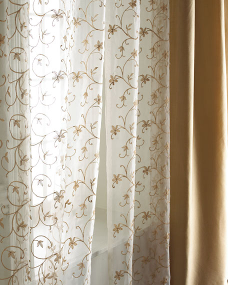 "Each 54""W x 84""L Vienna Sheer"