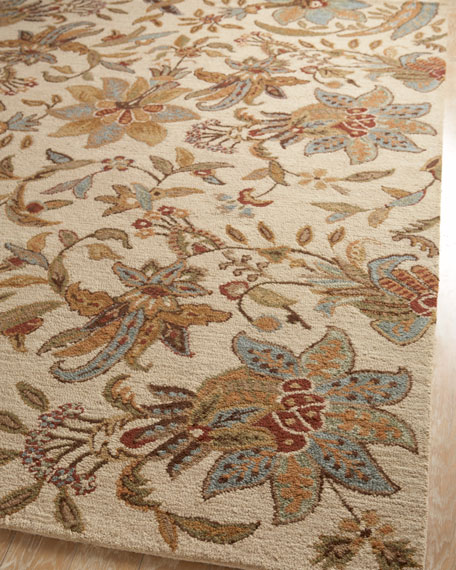 Ivory Jacobean Runner, 2'6