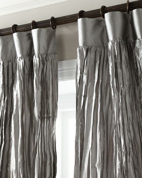 "Each 108""L Penthouse Suite Crushed Silk Curtain"