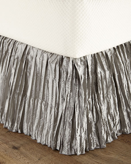King Penthouse Suite Crushed Silk Dust Skirt