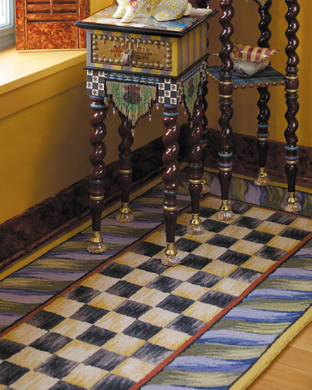 """Courtly Check Runner, 2'6"""" x 8'"""