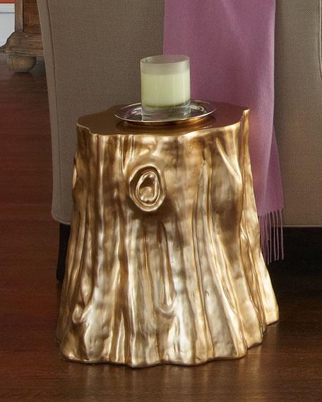 "Golden ""Cut Stump"" Table"