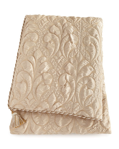 Dian Austin Couture Home Neutral Modern King Damask