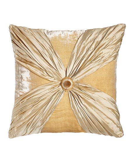 Dian Austin Couture Home Neutral Modern Crushed Silk/Velvet