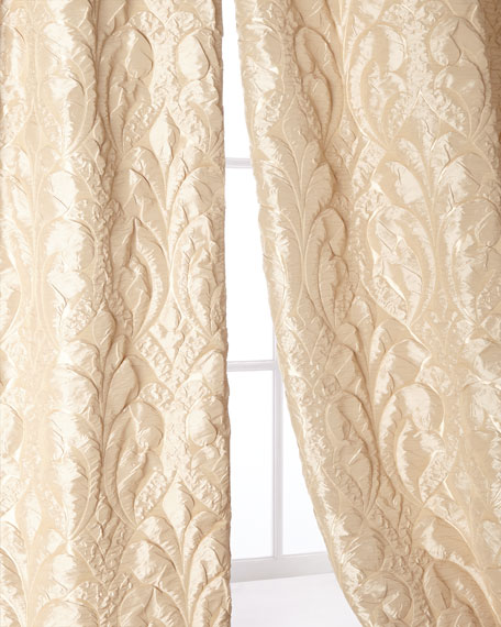 "Each 49""W x 96""L Neutral Modern Curtain"