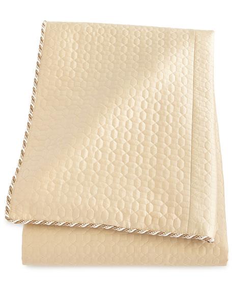 Neutral Modern Queen Quilted Silk Duvet Cover