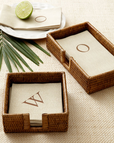 100 Personalized Jute Cocktail Napkins
