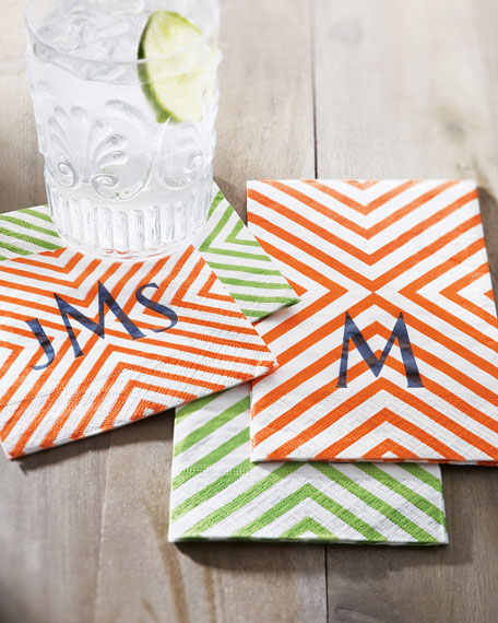 100 Chevron Cocktail Napkins