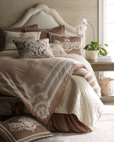 Angie King Duvet Cover with Applique