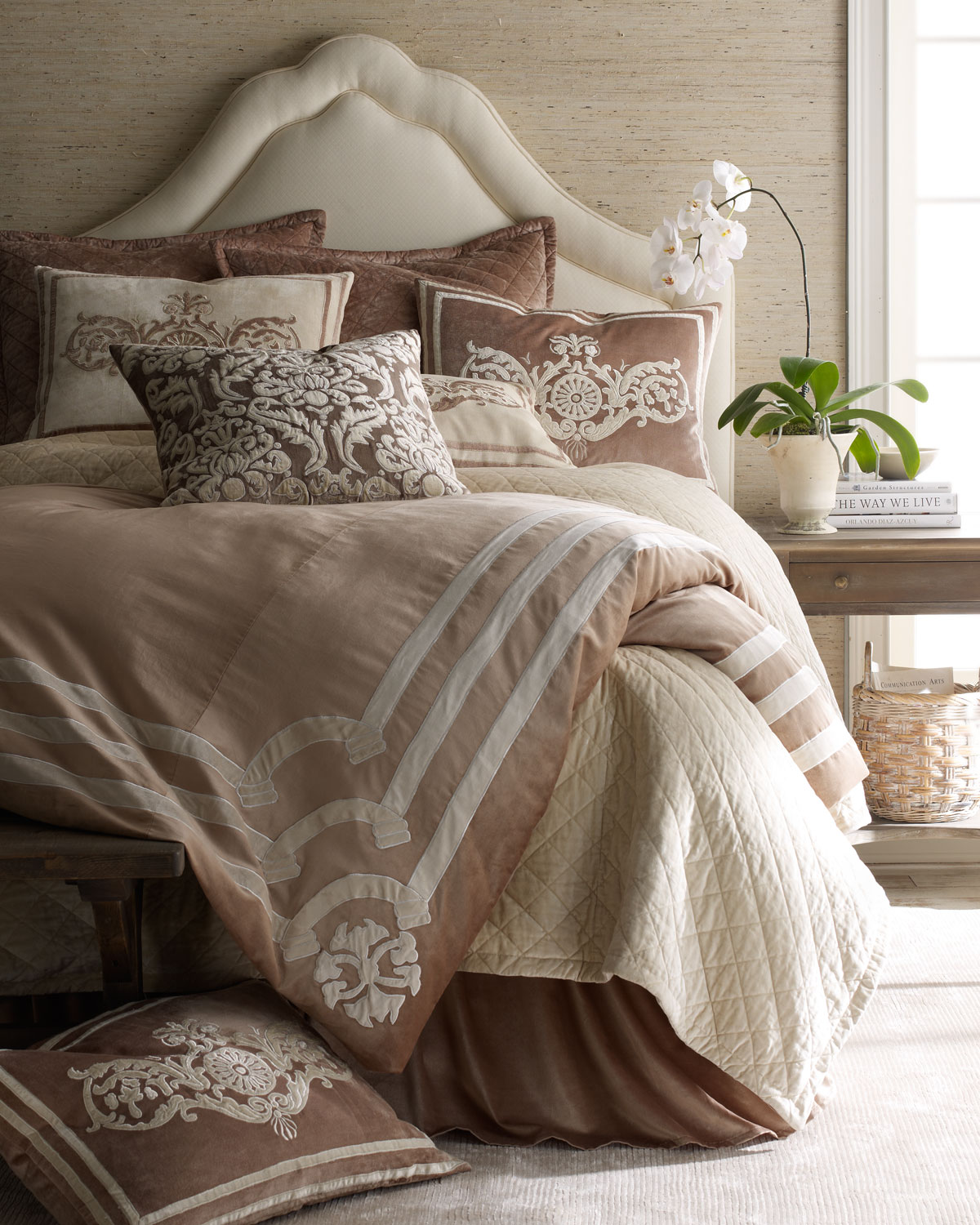 Lili Alessandra Angie King Duvet Cover With Applique