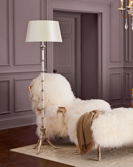 "Petite ""Bamboo"" Floor Lamp"