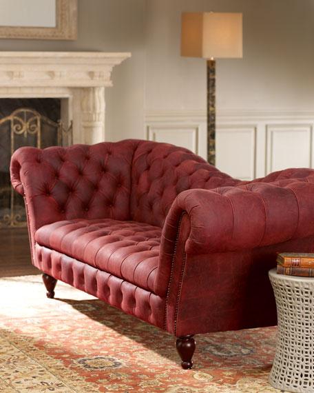 """Berry Recamier Sofa 90.25"""""""