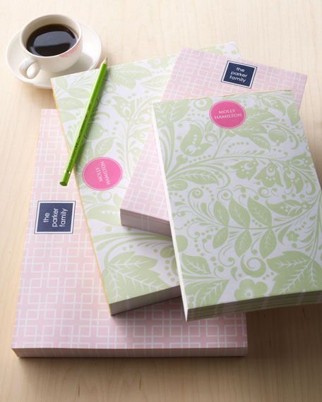 "Large ""Floral Paisley"" Notepad"