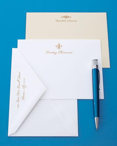 50 Gold-Motif Cards with Plain Envelopes