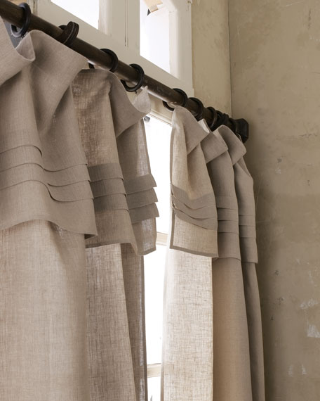 "96""L Pleated-Top Curtain"