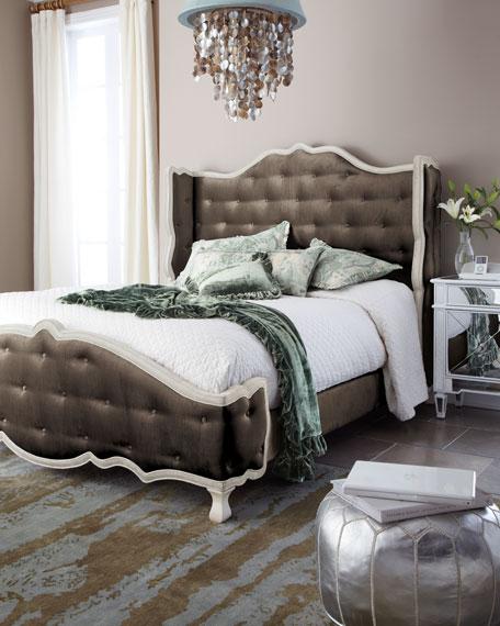 Taupe Tabitha Tufted California King Bed
