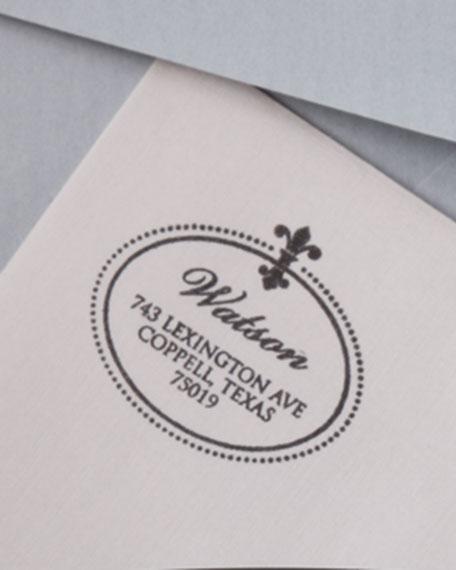 Fleur de Lis Address Stamp