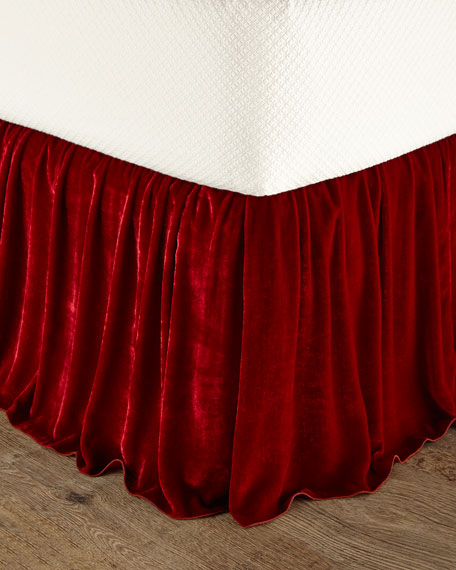 King Bohemian Rhapsody Panne Velvet Dust Skirt