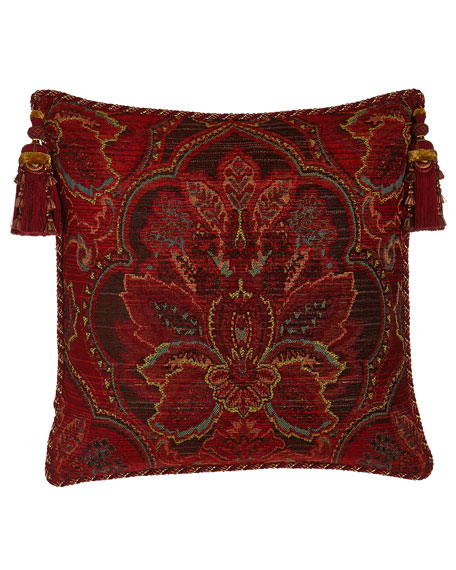 Bohemian Rhapsody Medallion European Sham with Tassels