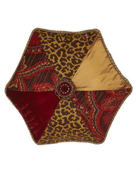 "Bohemian Rhapsody 18"" Tambourine Pillow with Rosette Center"