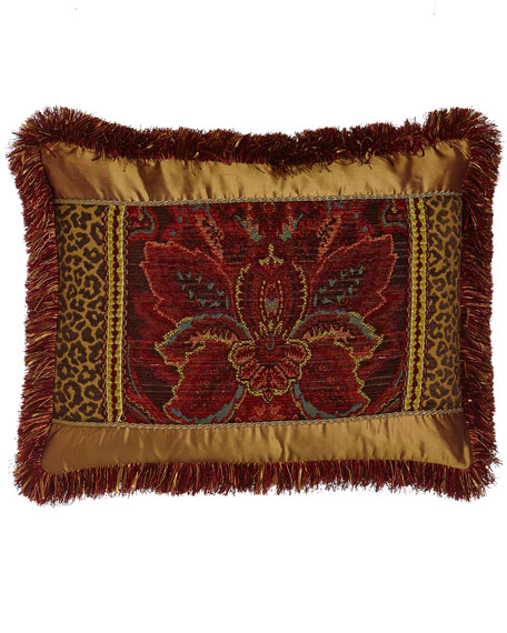 Standard Bohemian Rhapsody Patch Sham with Fringe