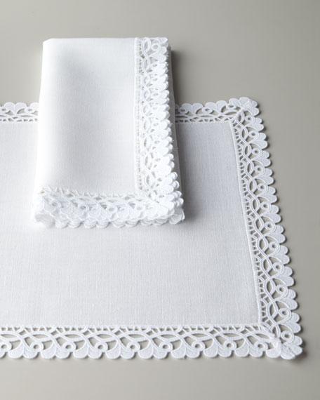 """Ricamo 90"""" Round Tablecloth"""